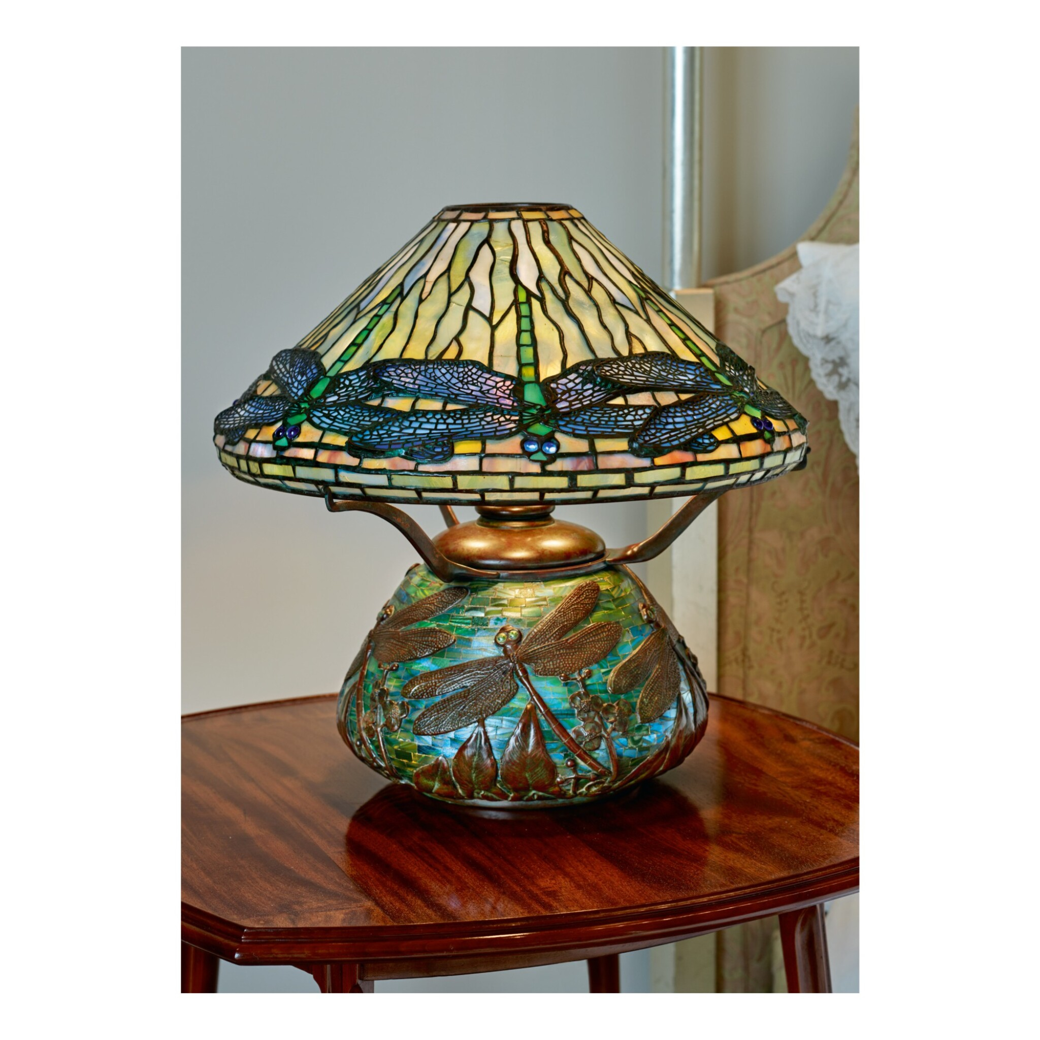 """View full screen - View 1 of Lot 86. """"Dragonfly"""" Table Lamp."""