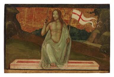 View 1. Thumbnail of Lot 29. AGNOLO DI DOMENICO DEL MAZZIERE, FORMERLY KNOWN AS THE MASTER OF SANTO SPIRITO     THE RESURRECTION OF CHRIST.
