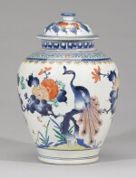 A KAKIEMON VASE AND COVER, EDO PERIOD, LATE 17TH CENTURY