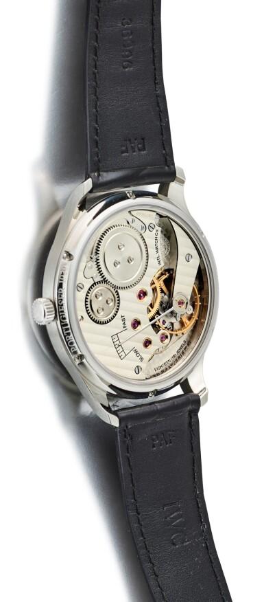 View 3. Thumbnail of Lot 8129. IWC   PORTUGIESER 1936   A STAINLESS STEEL WRISTWATCH, CIRCA 2008   萬國   葡萄牙系列 1936 精鋼腕錶,約2008年製.