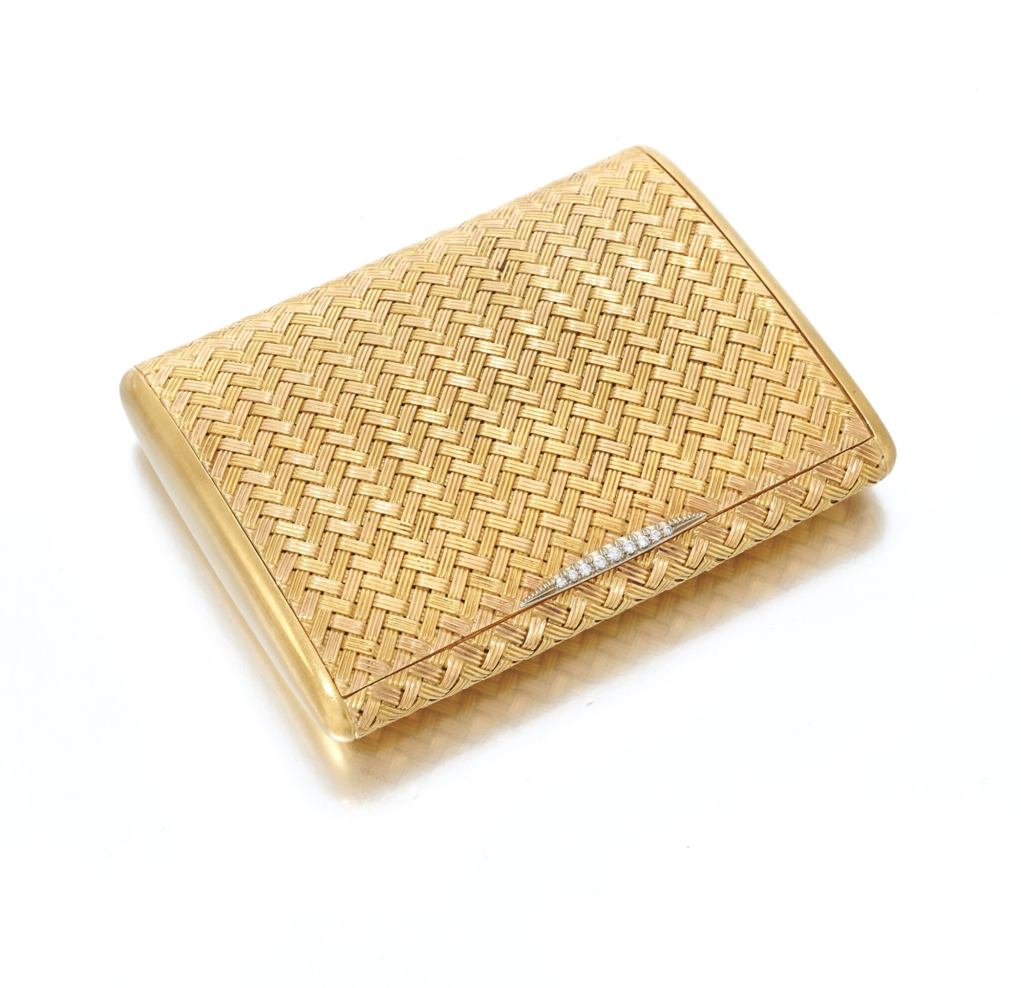 View 1 of Lot 51. Diamond cigarette case (Portasigarette in diamanti ).