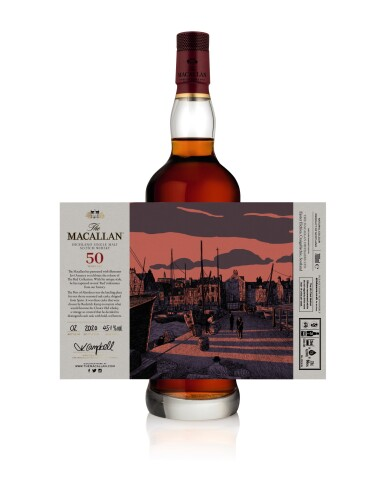 View 6. Thumbnail of Lot 1. The Macallan Red Collection with Exclusive Labels Illustrated by Javi Aznarez (6 bts 70cl).