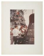 [MERCURY-ATLAS 9] VINTAGE CHROMOGENIC PRINT OF GORDON COOPER EXITING THE MERCURY SPACECRAFT, 16 MAY 1963.