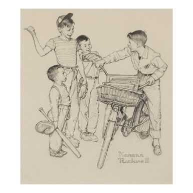 View 1. Thumbnail of Lot 4. NORMAN ROCKWELL | WHAT DO YOU TEACH A BOY OF TWELVE?.