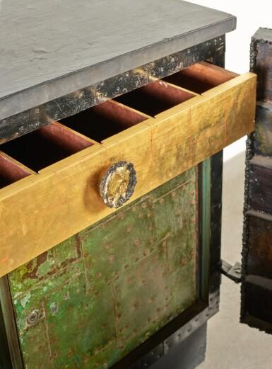 """View 6. Thumbnail of Lot 120. A Unique """"Sculpture Front"""" Cabinet."""
