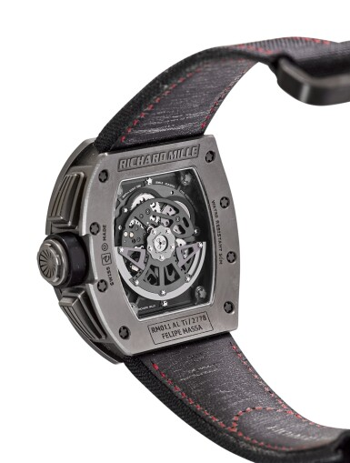 RICHARD MILLE | RM011 A TITANIUM SEMI-SKELETONIZED CHRONOGRAPH WRISTWATCH WITH DATE AND MONTH, MADE FOR FELIPE MASSA, CIRCA 2012