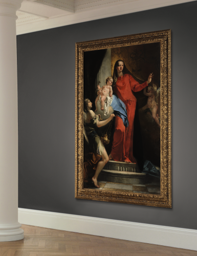 View 2. Thumbnail of Lot 61.  GIOVANNI BATTISTA TIEPOLO    MADONNA OF THE ROSARY WITH ANGELS.