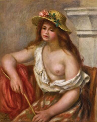 View 1. Thumbnail of Lot 129. La bohémienne or La bergère | 《吉普賽女郎》或《牧羊女子》.