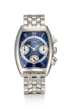 FRANCK MULLER | CURVEX, REFERENCE 7502 CC, A STAINLESS STEEL CHRONOGRAPH WRISTWATCH WITH BRACELET, CIRCA 2000