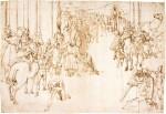 ATTRIBUTED TO DANIELE RICCIARELLI, CALLED DANIELE DA VOLTERRA | ALEXANDER THE GREAT KNEELING IN FRONT OF JADDUS, THE HIGH PRIEST OF JERUSALEM