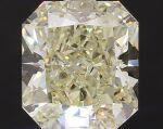 A 3.06 Carat Fancy Light Yellow Cut-Cornered Rectangular Diamond, VS2 Clarity