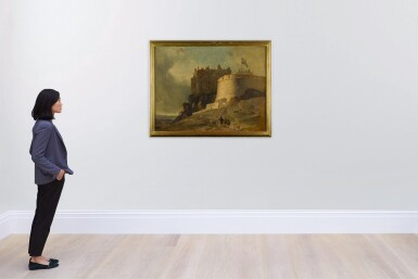 View 4. Thumbnail of Lot 176. Edinburgh, a view of the Round Tower of Edinburgh Castle.
