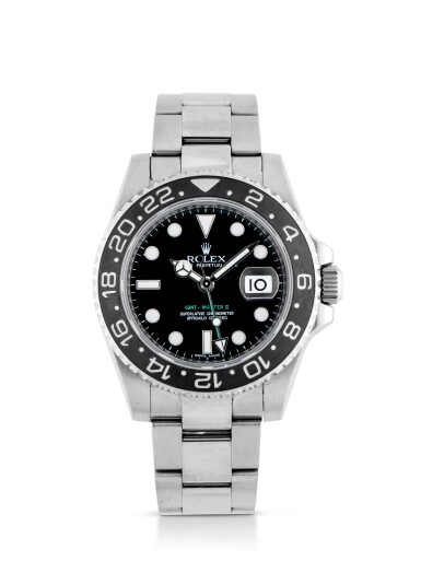 ROLEX | GMT-MASTER II, REF 116710 STAINLESS STEEL DUAL TIME WRISTWATCH WITH DATE AND BRACELET CIRCA 2010