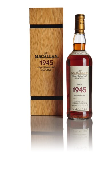 View 1. Thumbnail of Lot 142. THE MACALLAN FINE & RARE 56 YEAR OLD 51.5 ABV 1945 .