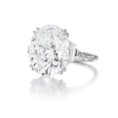 View 1. Thumbnail of Lot 9. FINE DIAMOND RING.