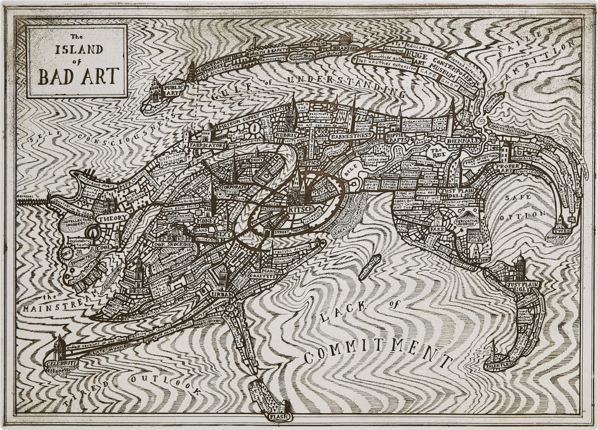 View full screen - View 1 of Lot 194. Grayson Perry, R.A., b. 1960 | The Island of Bad Art.