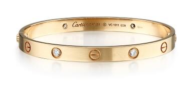 GOLD AND DIAMOND BANGLE, 'LOVE', CARTIER | K金 配 鑽石 手鐲, 'Love', 卡地亞(Cartier)