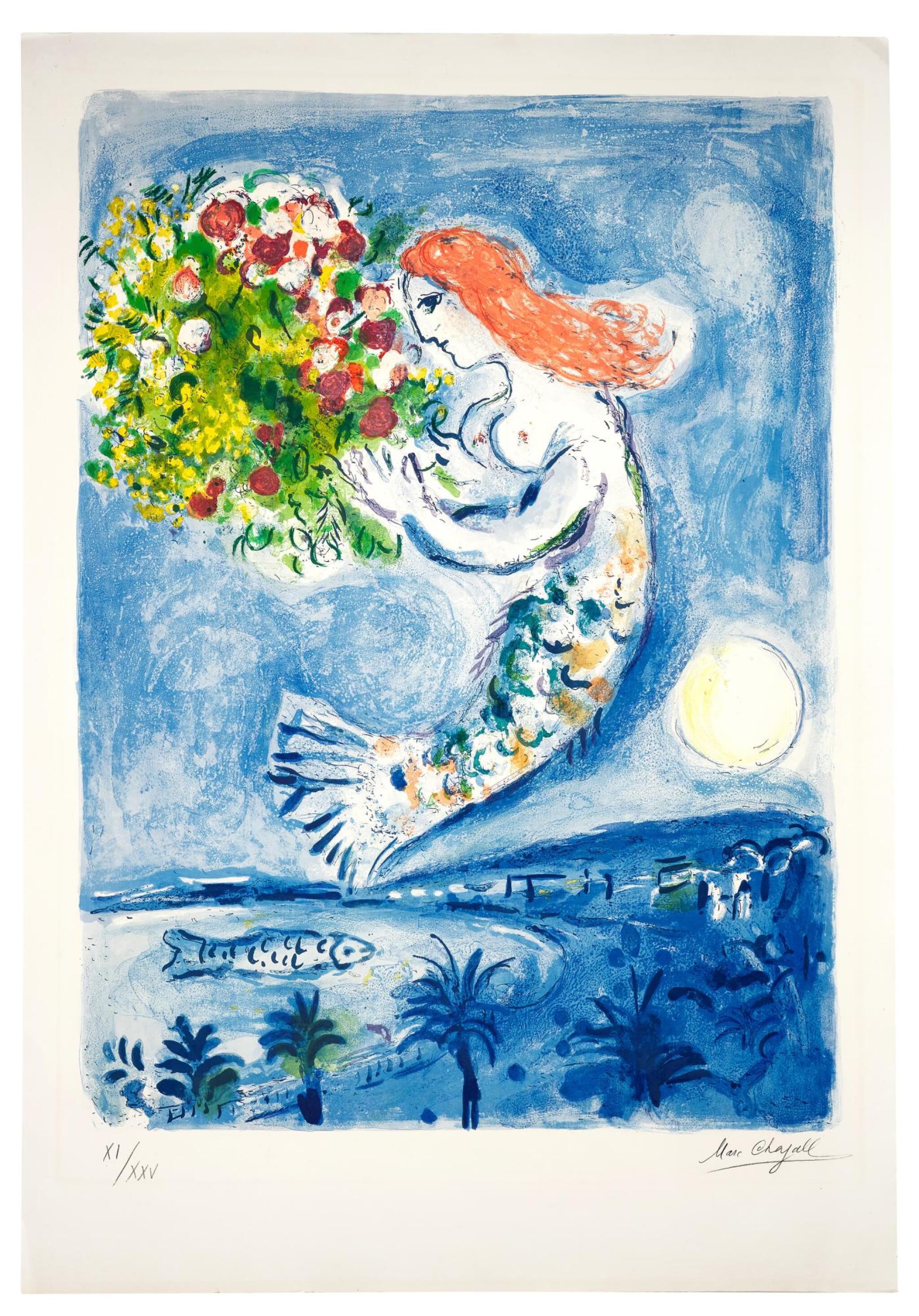 View full screen - View 1 of Lot 6.  MARC CHAGALL | LA BAIE DES ANGES (M. 350).