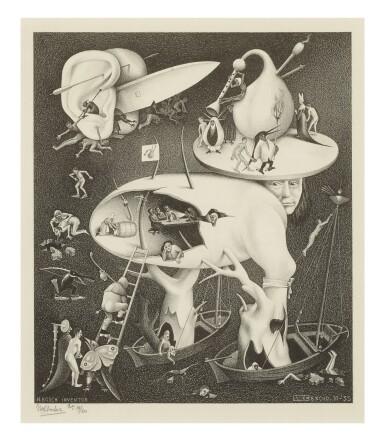 M. C. ESCHER | HELL (AFTER HIERONYMOUS BOSCH) (B./K./L./W. 278)
