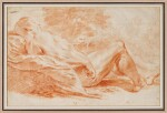 Academy Study: Male nude reclining in a landscape