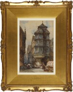 WILLIAM CALLOW, R.W.S.   Old Houses, Frankfurt