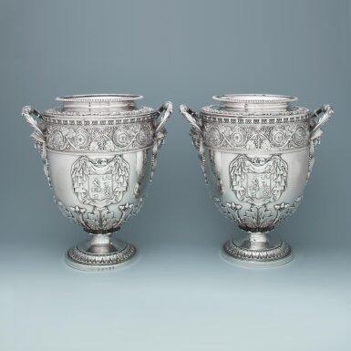 A PAIR OF GEORGE III WINE COOLERS | DIGBY SCOTT & BENJAMIN SMITH, LONDON |1806