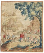 'Fishing Harbour', An English Genre Tapestry, London, possibly Chabaneix workshop, 18th century