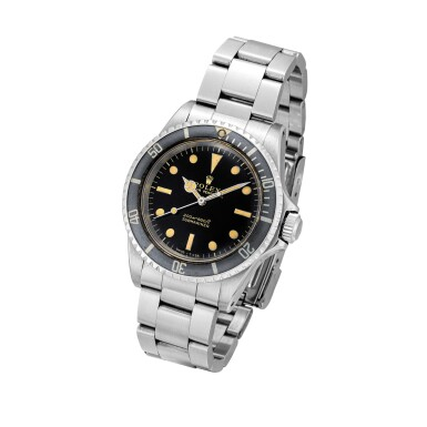 View 2. Thumbnail of Lot 2126. Rolex | Submariner, Reference 5513, A stainless steel wristwatch with gilt dial and bracelet, Circa 1966 | 勞力士 | Submariner 型號5513 精鋼鏈帶腕錶,約1966年製.