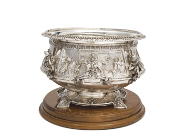 View 3. Thumbnail of Lot 265.  A VICTORIAN SILVER LARGE PUNCH BOWL, JOHN HUNT & ROBERT ROSKELL, LONDON, 1881.
