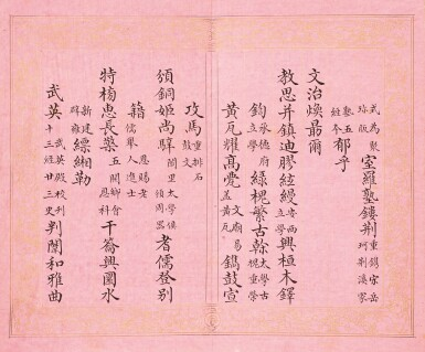 View 16. Thumbnail of Lot 3114. Peng Yuanrui 1731 - 1803 彭元瑞 1731-1803 | Poems for the Emperor Qianlong's Eightieth Birthday Celebration 《萬壽大慶八庚全韻詩》冊.