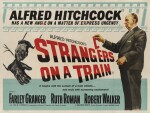 Strangers on a Train (1951) poster, British