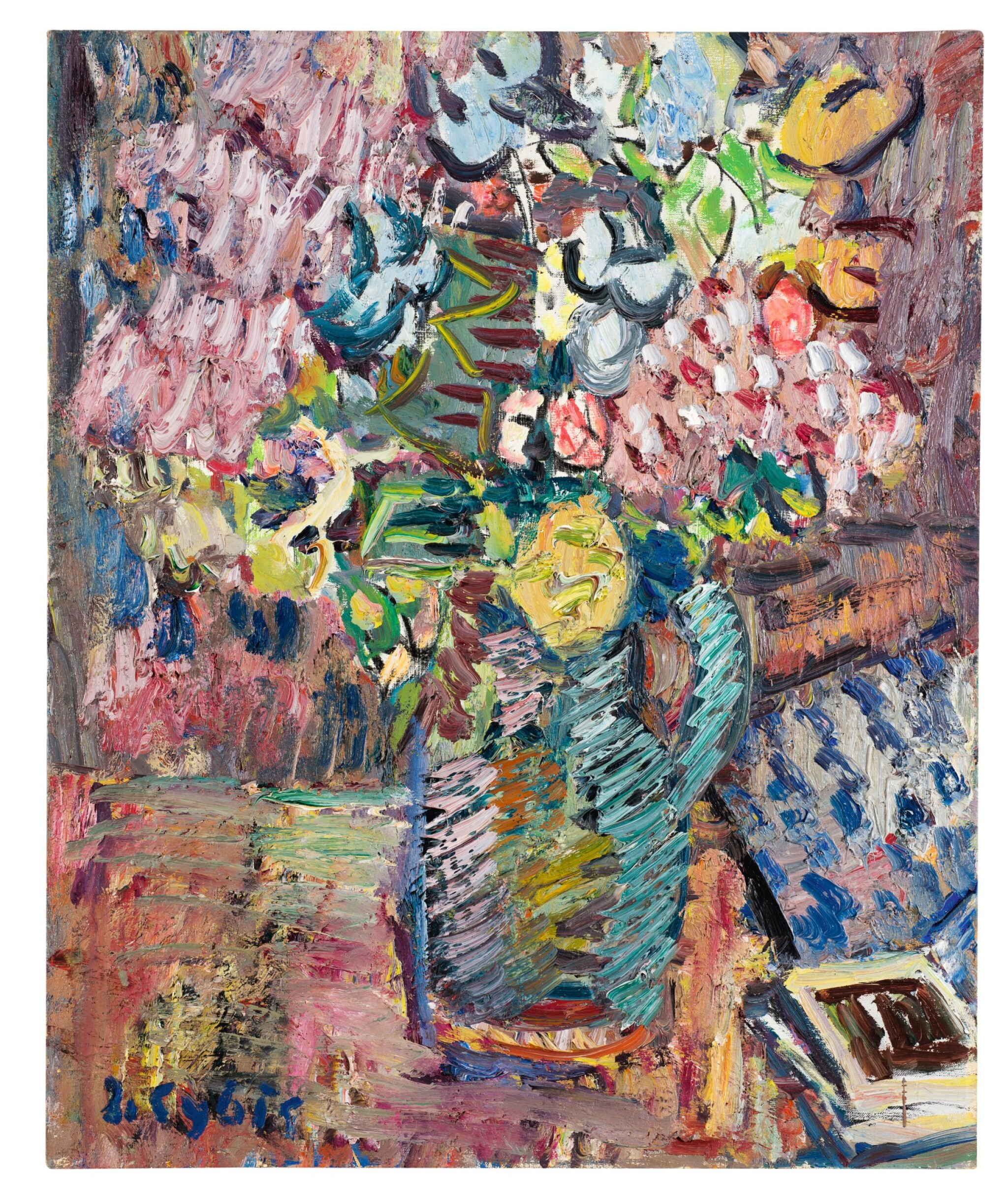 View full screen - View 1 of Lot 54. JAN CYBIS | STILL LIFE WITH FLOWERS.