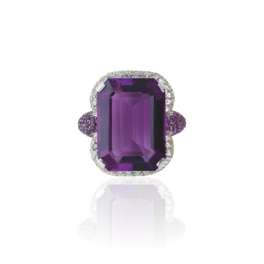 AMETHYST AND DIAMOND RING, MICHELE DELLA VALLE