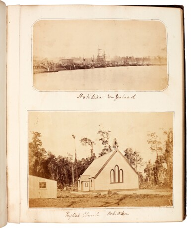 View 3. Thumbnail of Lot 40. BARKER, and others | Album of photographs of New Zealand, Jamaica and England, 1863-82.