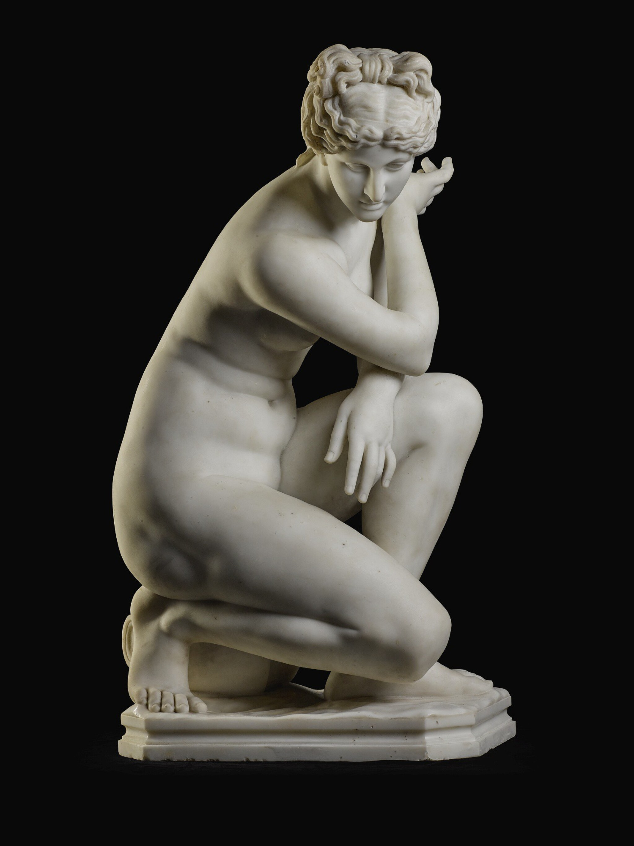 View full screen - View 1 of Lot 11. RAFAELLO BATTELLI, AFTER THE ANTIQUE | CROUCHING VENUS.