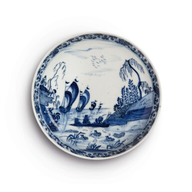 View 1. Thumbnail of Lot 392. A MEISSEN BLUE AND WHITE SAUCER DISH CIRCA 1721-22.