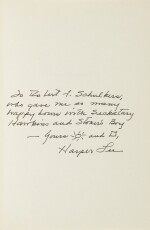 "LEE, HARPER | three ""Seckatary Hawkins""-related books inscribed and signed by Harper Lee"