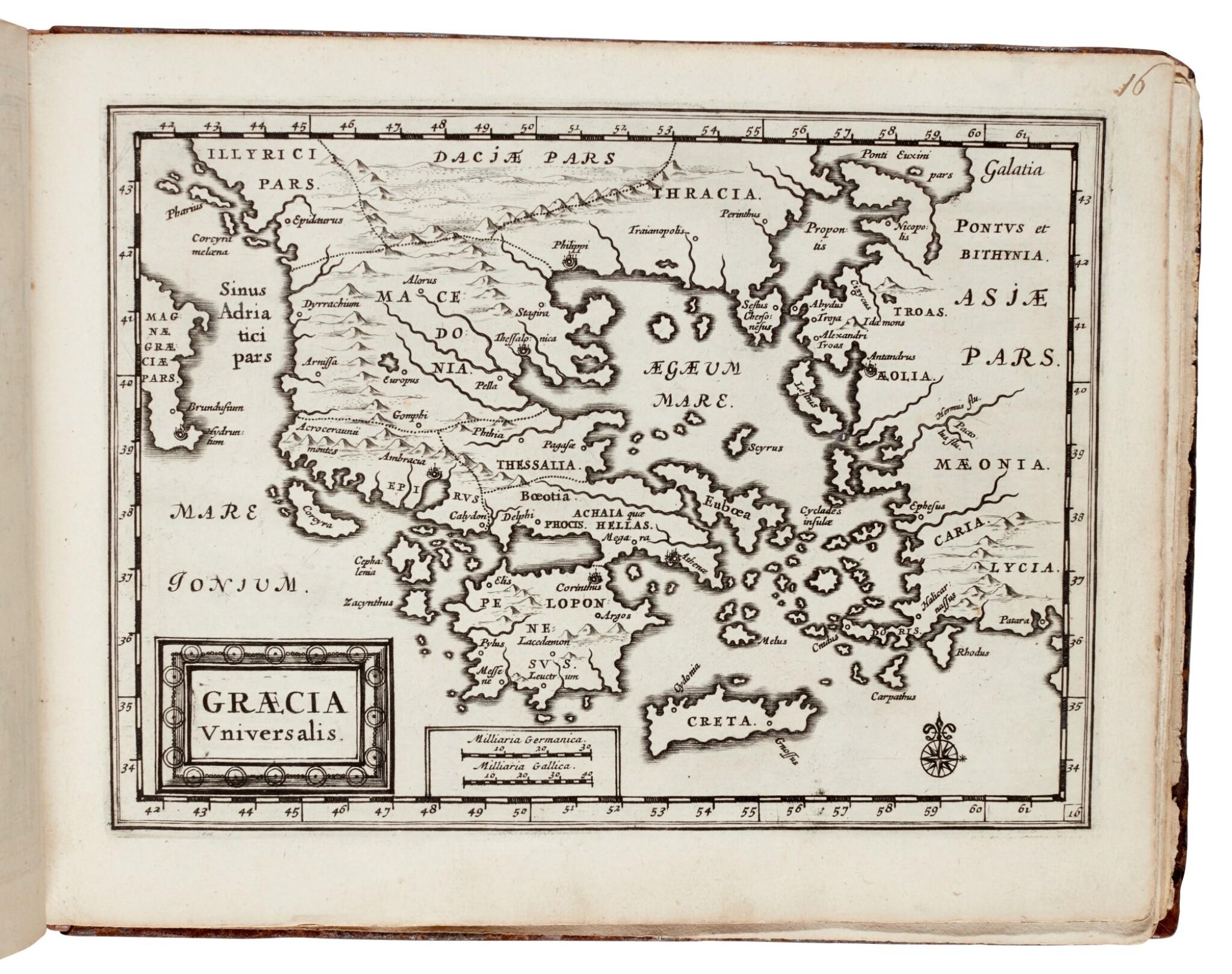 View full screen - View 1 of Lot 35. Pieter van der Aa | Veteris orbis tabulae geographicae, [1714].
