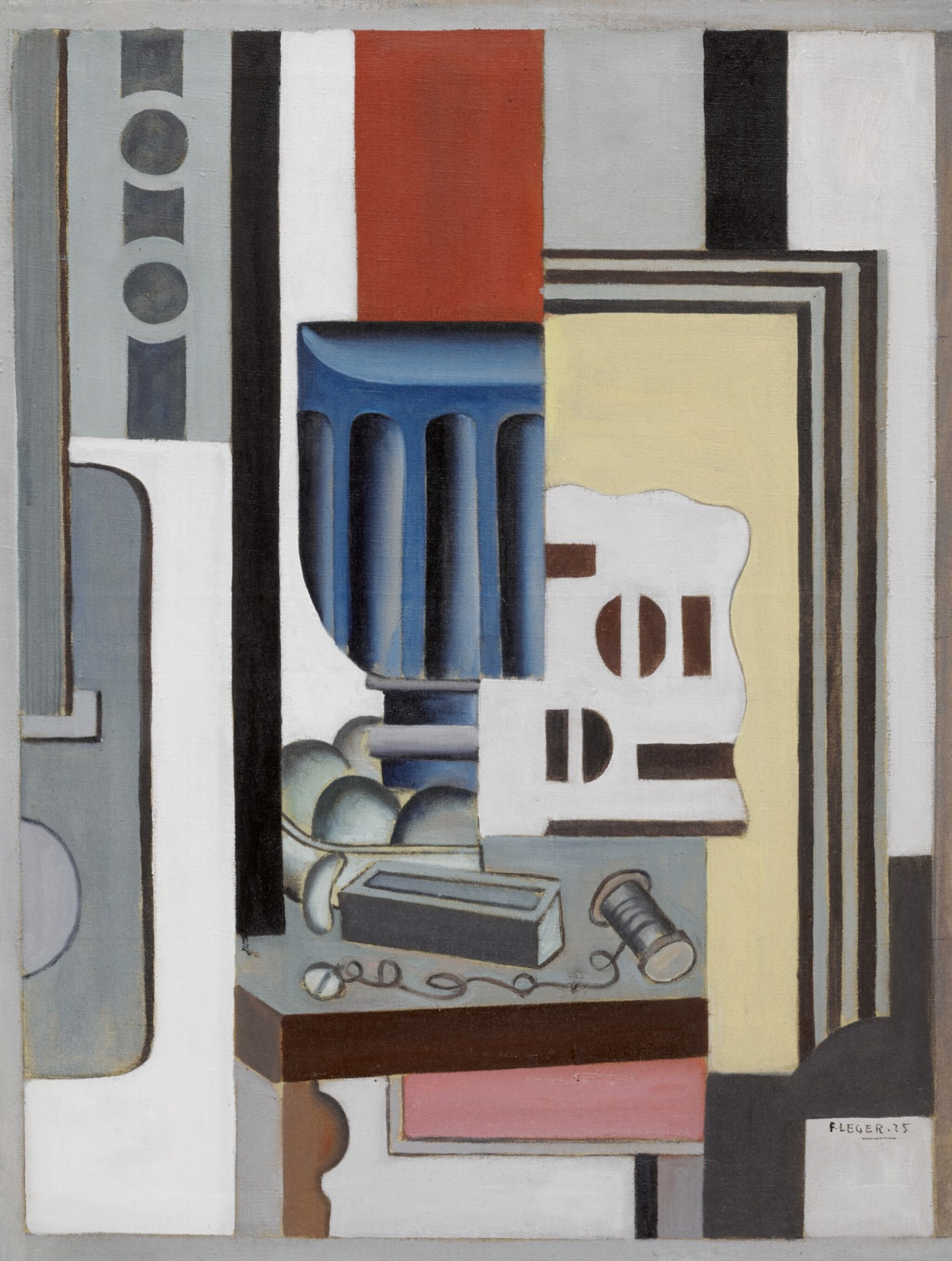 View full screen - View 1 of Lot 1022.  FERNAND LÉGER | NATURE MORTE (LE VERRE).