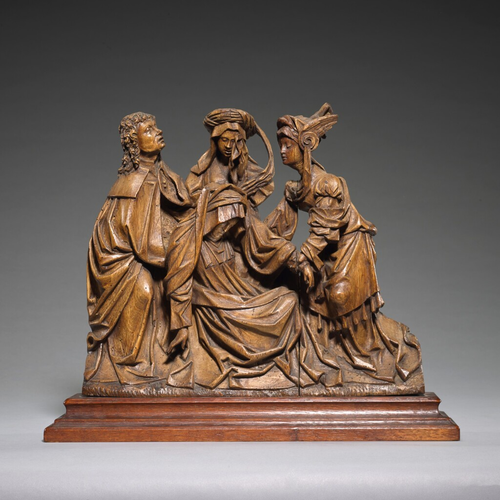 SOUTHERN NETHERLANDISH, ANTWERP, CIRCA 1520 | RELIEF WITH MOURNERS FROM A CRUCIFIXION