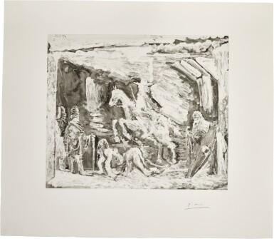 PABLO PICASSO | RAPT, AVEC CÉLESTINE, RUFFIAN, FILLE, ET SEIGNEUR AVEC SON VALET (B. 1578; BA. 1594)