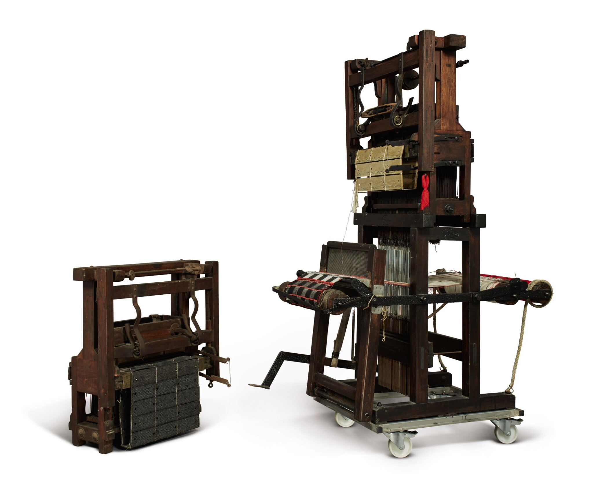 View full screen - View 1 of Lot 30. A PORTABLE JACQUARD LOOM.