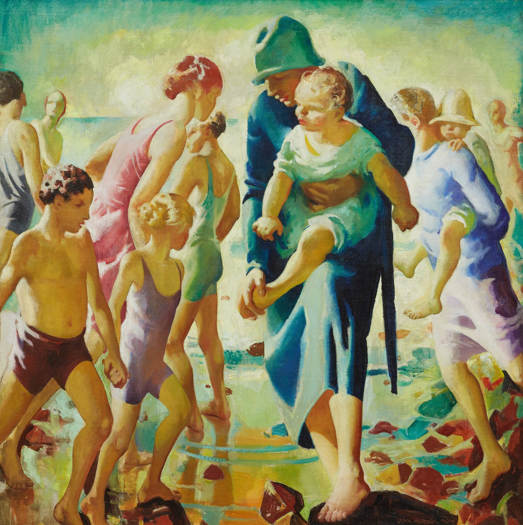View full screen - View 1 of Lot 28. MYRTLE JEAN MACLANE |  BEACH LIFE, DEVONSHIRE.