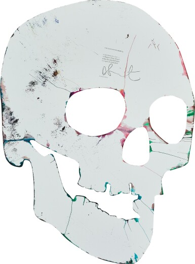 View 2. Thumbnail of Lot 4. Untitled (Skull Spin Painting) |  無題(骷髏旋轉畫).