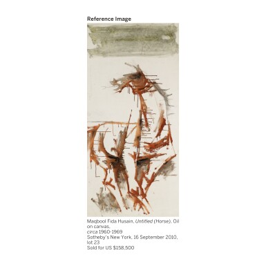 View 3. Thumbnail of Lot 110. MAQBOOL FIDA HUSAIN | Untitled (Horses).