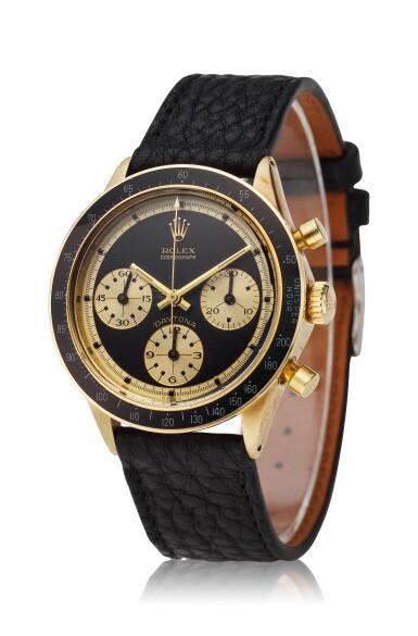 View 3. Thumbnail of Lot 220. Reference 6241 Daytona Paul Newman 'John Player Special'  A yellow gold chronograph wristwatch, Circa 1968.