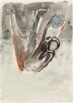 GEORG BASELITZ  |  UNTITLED (BALLSPIELER), 1981