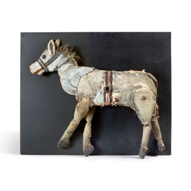RARE STUFFED CANVAS DONKEY CARNIVAL TARGET, EARLY 20TH CENTURY