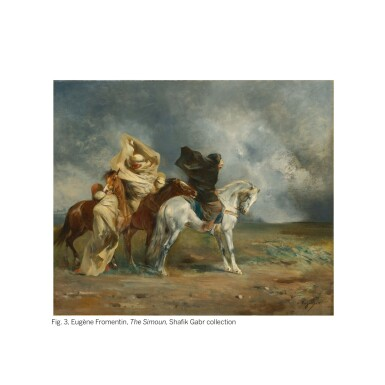 EUGÈNE FROMENTIN | WINDSTORM ON THE ESPARTO PLAINS OF THE SAHARA