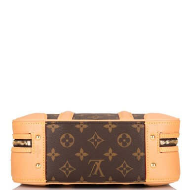 View 8. Thumbnail of Lot 85. LOUIS VUITTON   MONOGRAM VALISETTE MINI LUGGAGE PM IN COATED CANVAS AND VACHETTA LEATHER WITH GOLDEN BRASS HARDWARE.